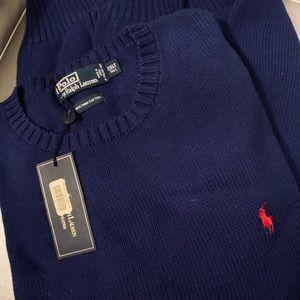 Ralph Lauren NWT Crew Neck Blue Men's Sweater 2XLT